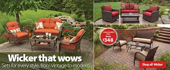 Walmart Outdoor Furniture Sets by Patio Furniture Walmart Wicker With Regard To Household Clearance