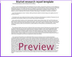 research report sle template market research report template best market 2017