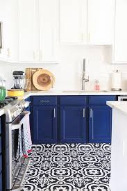 kitchen cabinets with gold hardware our navy blue and white kitchen remodel no 2 pencil
