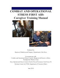 combat operational stress first aid manual
