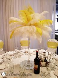 Wedding Feathers Centerpieces by Montreal Centerpieces A Timeless Celebration