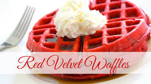 breakfast ideas red velvet waffles youtube
