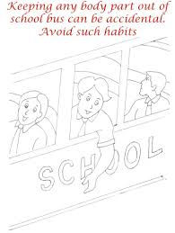 manners in bus coloring page for kids