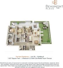 ardmore park floor plan beaumont place apartments by mandel group milwaukee area apartments