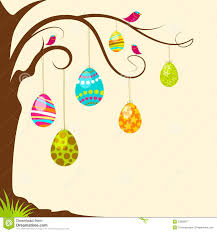 easter egg tree easter egg hanging from tree royalty free stock photography