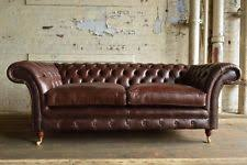Chesterfield Sofa Antique Chesterfield Leather Living Room Sofas Ebay