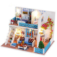 Sweet Coffee Shop France Style Diy Doll House 3d Miniature 1 24 Dollhouse Miniatures Kits Ebay