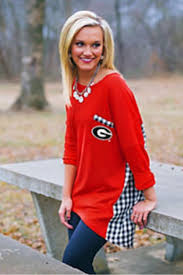 187 best georgia bulldogs images on pinterest georgia girls florida gingham piko top product images of