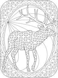 dover reindeer coloring u0027s coloring