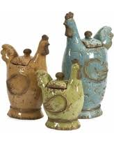 cyber monday savings artland 3 piece canister set with rooster lid