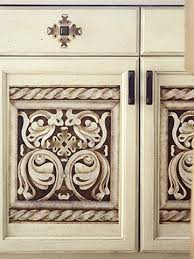 Updating Kitchen Cabinet Doors 21 Best Stenciled Cabinet Doors Images On Pinterest Painted