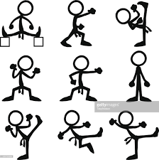 stick figure people olympic taekwondo vector art getty images