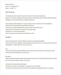 Sample Hr Resume For Experienced by 51 Resume Format Samples