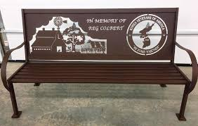 memorial bench handmade custom personalized vintage style iron metal six foot