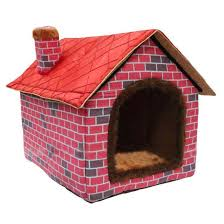 Igloo Dog Houses Culon Warm Indoor Soft Kennel Pet Big Dog House Red