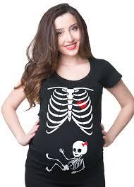 Halloween Skeleton Top pregancy t shirt skeleton baby x ray maternity t shirt