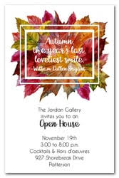 open house invitations fall party invitations autumn party invitations