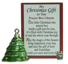 amazon com little christmas tree prayer box charm with story card