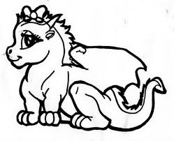 dragon lovely baby coloring page 482247 coloring pages for