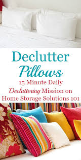 how to declutter pillows 15 minute mission