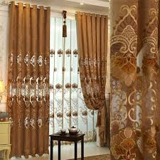 White And Brown Curtains Find More Curtains Information About Custom Made European Royal 1