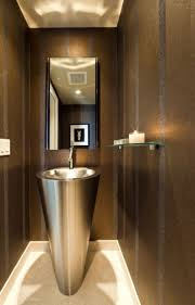 bathroom powder room ideas how to a narrow powder room feel inviting and comfortable