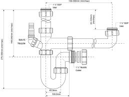 McAlpine Bowl And A Half Kitchen Sink Trap Kit SK - Kitchen sink traps
