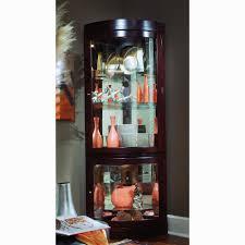 curved corner curio cabinet chocolate cherry curved front corner curio cabinet curio cabinet