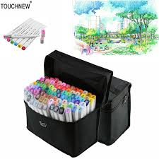 touchnew t7 60 80 colors artistic sketch markers pen alcohol based