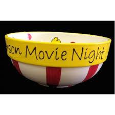 personalized bowl popcorn bowl
