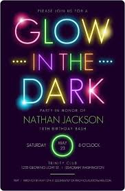 neon party black light party invitations best 25 neon party invitations ideas