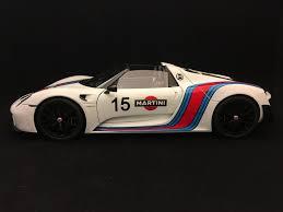 white porsche 918 porsche 918 spyder weissach 2015 martini n 15 white 1 18 autoart