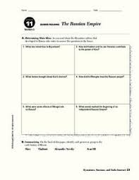 the russian empire 6th 8th grade worksheet lesson planet