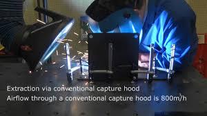 welding ventilation system welding extraction via hood local exhaust ventilation lev