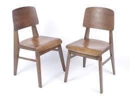 chaise prouv galerie alexandre guillemain artefact design jean prouve a pair