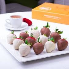 White Chocolate Covered Strawberry Box Dozen Truffles Box