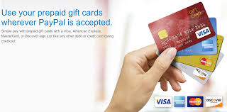prepaid gift cards paypal checkout allows the use of prepaid gift cards
