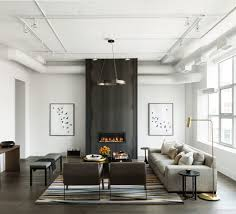 Modern Loft Furniture by Contemporary Fireplace Surrounds Living Room Transitional With