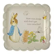 peter rabbit large scollop edge plates