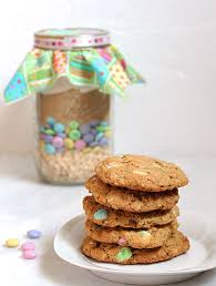 m m cookies in a jar with printable tags of living