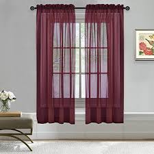 Purple Curtains For Living Room Bedroom Window Curtains Amazon Com