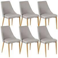chaise pas cher lot de 6 altobuy lot 6 chaises taupe marron pas cher achat vente