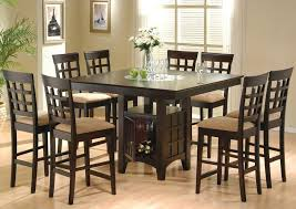 Bar Height Dining Room Table Sets Contemporary Casual Dining Room Design With 9 Pieces Square Bar
