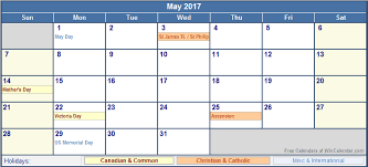 march 2017 calendar with holidays canada weekly calendar template