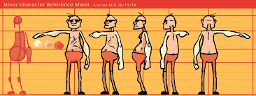 diving animation assignment u2013 character reference sheet u2013 running