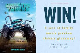 tickets giveaway monster trucks movie preview screening