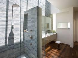 modern blue cabinet on the wooden floor modern bathroom tile ideas