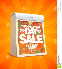 thanksgiving day sale design in form of calendar stock vector