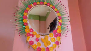 how to make wall hanging with mirror frame simple craft ideas