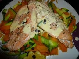 cuisiner filet de truite filets de truite et tagliatelles de légumes au thermomix